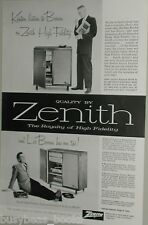 1957 Zenith ad, Hi-Fi set, Jazz, Les Brown, Stan Kenton