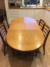 Vintage Dining Table And 4 Chairs Mid Century Teak Wood Retro 1970s 1960s