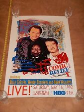 1992 HBO COMIC RELIEF ROBIN WILLIAMS, CRYSTAL, GOLDBERG LITHO POSTER JIM EVANS