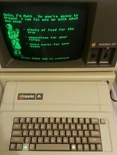 Vintage Early Apple IIe Computer  AA11040B lot +software... excellent condition