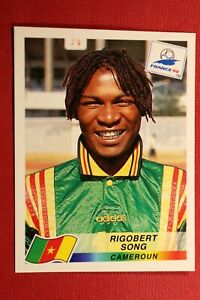 PANINI STICKERS WORLD CUP FRANCE 98 N. 123 SONG CAMEROUN NEW WITH BLACK BACK!