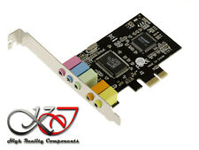 Card Pcie Sound 5.1 6 Channels - Chipset Cmedia CMI8738 - High+Low Profile