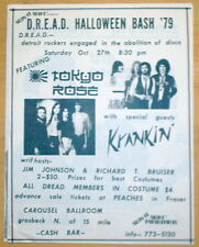 Two Vintage Fliers - Tokyo Rose with Krankin' 1979 & The Twisters - Detroit
