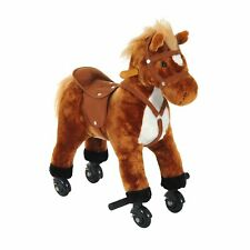Kids Ride on Toy Rocking Horse Walking Pony Neigh Sound Children Gift w/ Wheels