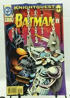 Batman #502 Knightquest DC Comics Signed / Good Condition Some Tears AK