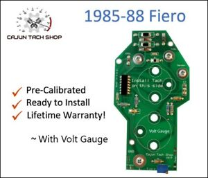 1984-88 Fiero, TACHOMETER CIRCUIT BOARD. For 4 Cyl Tachometer with VOLT GAUGE