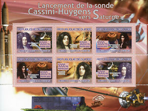 Guinea Space Stamps 2007 MNH Launch Cassini-Huygens Probe to Saturn 6v M/S