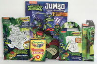 5 TEENAGE MUTANT NINJA TURTLES Jumbo Coloring Book Pop-outz Play Pad Crayons Pen