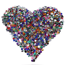 Colorful Acrylic Plastic Gemstone Mix Assorted Colors and Sizes 1/2 LB