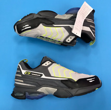 New Reebok DMX Trainers Size UK 7 Grey Neon Green Low Top Chunky Retro Boxed