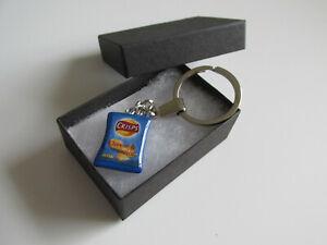 Handmade Fun Gift - Miniature Cheese & Onion Crisp Crisps Packet Charm Keyring