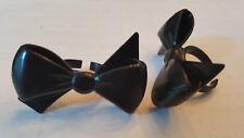 Black Bow Cupcake Rings - 24 Rings
