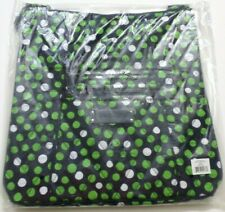 Vera Bradley Hipster Lucky Dots Crossbody Shoulder Bag Green White C7