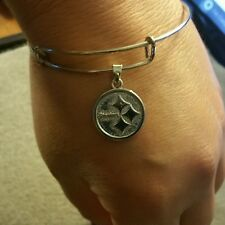 Pittsburgh Steelers Charmed Wire Bangle Bracelet
