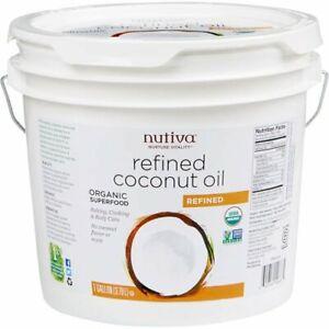Nutiva Refined CERTIFIED ORGANIC Non-GMO Coconut Oil 1 Gallon