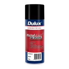 Dulux METALSHIELD QUICK DRY SPRAY PAINT 300g Aerosol,Superior Finish GLOSS BLACK