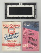 New ListingStamp Hinges and Perforation Gauge, Stamp Collector Supplies
