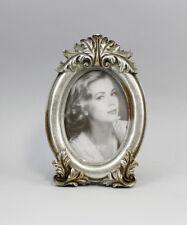 9977267 Bilder-Rahmen silber Historismus oval 8x12/13x19cm