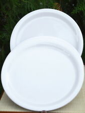 """Melamine Solid Colored Collection - 11"""" Plates Set of 6 - WHITE"""