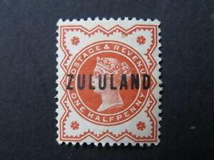 Zululand 1888 QV 1/2d Red Overprint - Mint