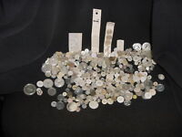 MIXED LOT of VINTAGE/NEW Buttons - ASSORTED SIZES. MOSTLY WHITE BUTTON