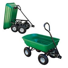 More details for heavy duty garden tipper cart trailer barrow large dump truck trolley allotment