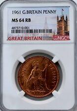 More details for 1961 elizabeth penny 1p ngc ms64 rb united kingdom