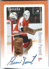 CANADA POST Bernie Parent hockey stamp AUTOGRAPH card RARE