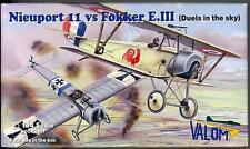 Valom Models 1/144 NIEUPORT 11 versus FOKKER E.III EINDEKKER Four Kits in Box!