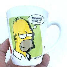Homer Simpson The Simpsons Coffee Mug Tea Cup donuts white ceramic doh