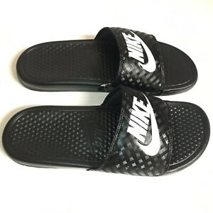 NIKE WOMENS Slides Benassi Just Do It | Woven Black
