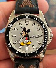 Vintage Lorus Disney Mickey Mouse Sports Diver Quartz Watch Mans Clean Running