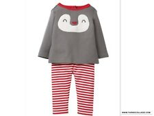 GYMBOREE Penguin Two Piece Outfit NEW size 12-18 months