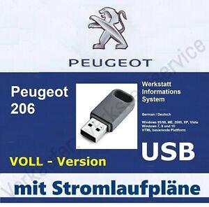 Peugeot 206 206cc VOLLVERSION mit Stromlaufplan Kfz-Elektrik Werkstatthandbuch