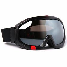 Ski Goggles Adult Black Matt TPU Frame Anti-Fog Double Color Lens Snow Goggles