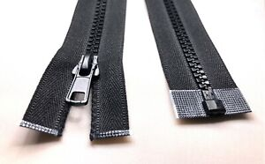 Black Chunky Zip No.5 Plastic Zipper Open &Closed End zip (from 10 cm to 500 cm)