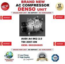 Denso CA COMPRESOR AUDI A4 8k 2 2.0 TDI 2007-on OEM: 8k0260805 NUEVO unidad