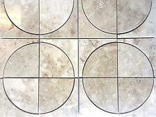 WaterJet Custom Cut 4x4 Botticino Marble Tile Floor and Wall (Sold by Sheet)
