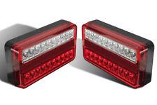 PAIR 12V 20 LED REAR TAIL LIGHTS LAMPS TRAILER TRUCK TIPPER CHASSIS VAN CARAVAN