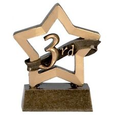3RD PLACE TROPHY BRONZE TROPHY ENGRAVED FREE AWARD SMALL MINI STAR TROPHIES