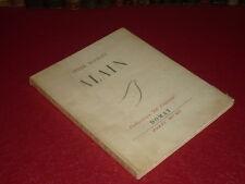 """André MAUROIS / ALAIN Collection """"Au Voilier"""" EO 1950 Jeanne Loviton I/L Pur Fil"""