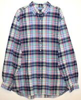Polo Ralph Lauren Big Tall Mens 2XLT Blue Red Plaid Button-Front Shirt NWT 2XLT