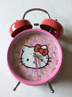Hello Kitty Clock Pink Vintage Collectible