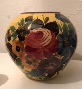 Vaso ceramica Galvani Pordenone millefiori, ginori era