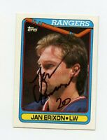 JAN ERIXON RANGERS AUTOGRAPH AUTO 90-91 TOPPS #187 *62281