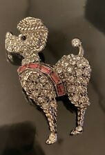Adorable! Vintage Signed Weiss Poodle Brooch
