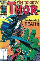 Mighty Thor Comic 343 Copper Age First Print 1984 Death of FanFir Marvel