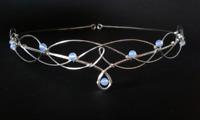 Moonstone Circlet Tiara Elven Wedding Medieval Renaissance Galadriel Arwen Gift