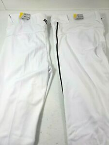 Easton Women Prowess Piped Softball Pants Lot of 2 Cropped Sz XXL White Navy New