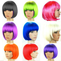 Women's Sexy Short BOB Cut Fancy Dress Wigs Play  Costume Ladies Full Wig PaC PL